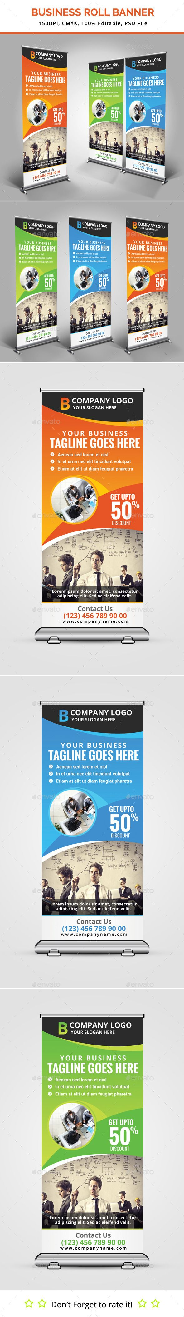 Business Roll Up Banner Template #design Download: graphicprime.com/...