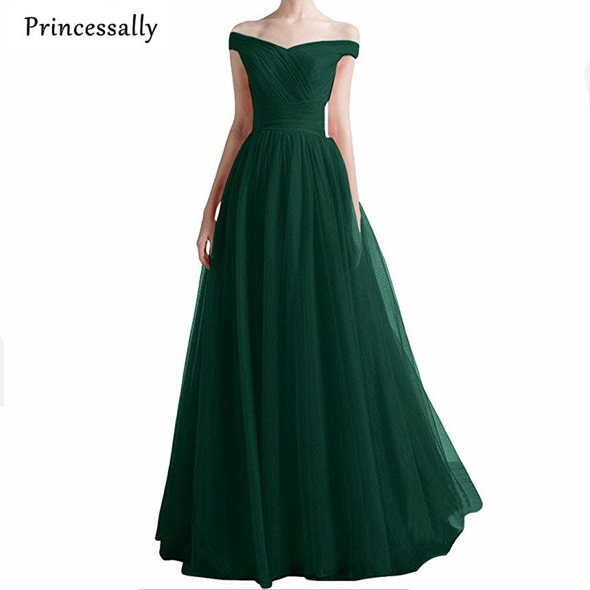 Find More Bridesmaid Dresses Information about Robe De Soiree Emerald Green  Long Formal Dresses Boat Neck Bridesmaid Gown Elegant Banquet Sexy Formal  ... 6df0ce27cc8b
