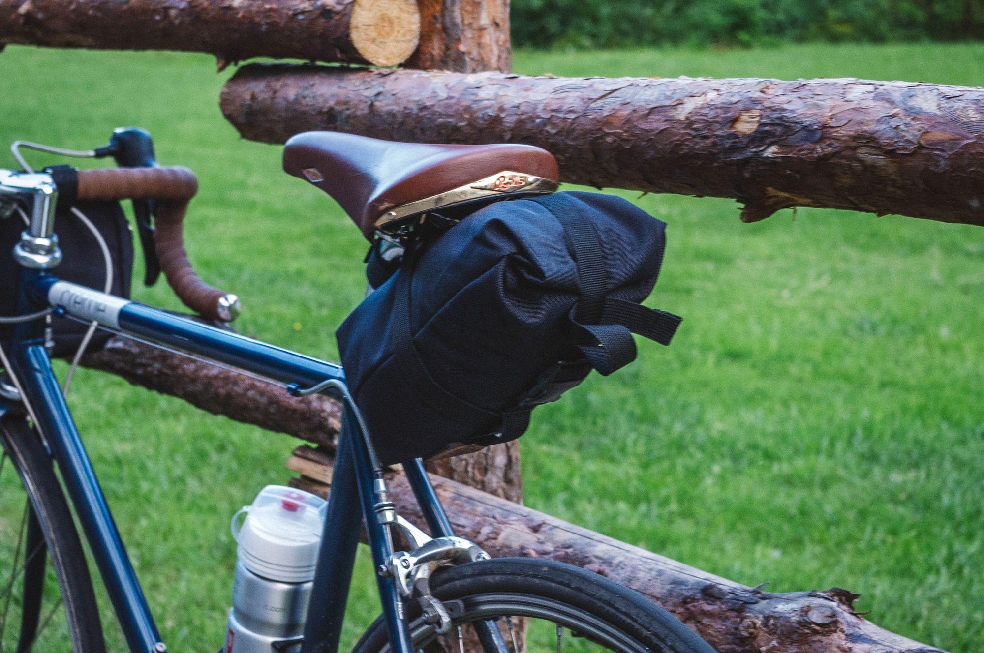 Turini Roll Top Saddle Bag Black With Images Bike Bag