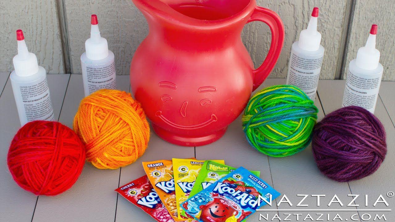 DIY Learn How To Hand Paint Dye Yarn with Kool Aid Easy