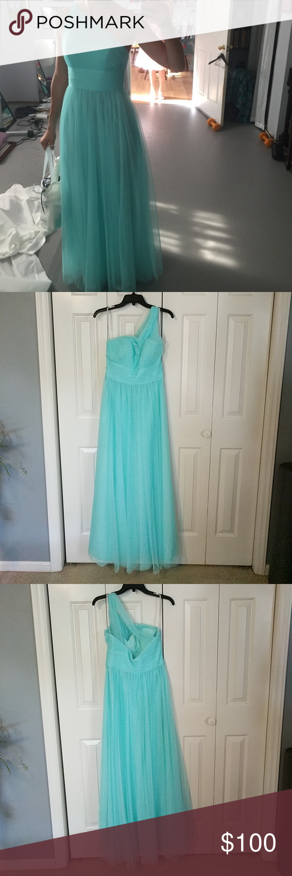 Watters bridesmaids dress style ocean colors bridesmaid