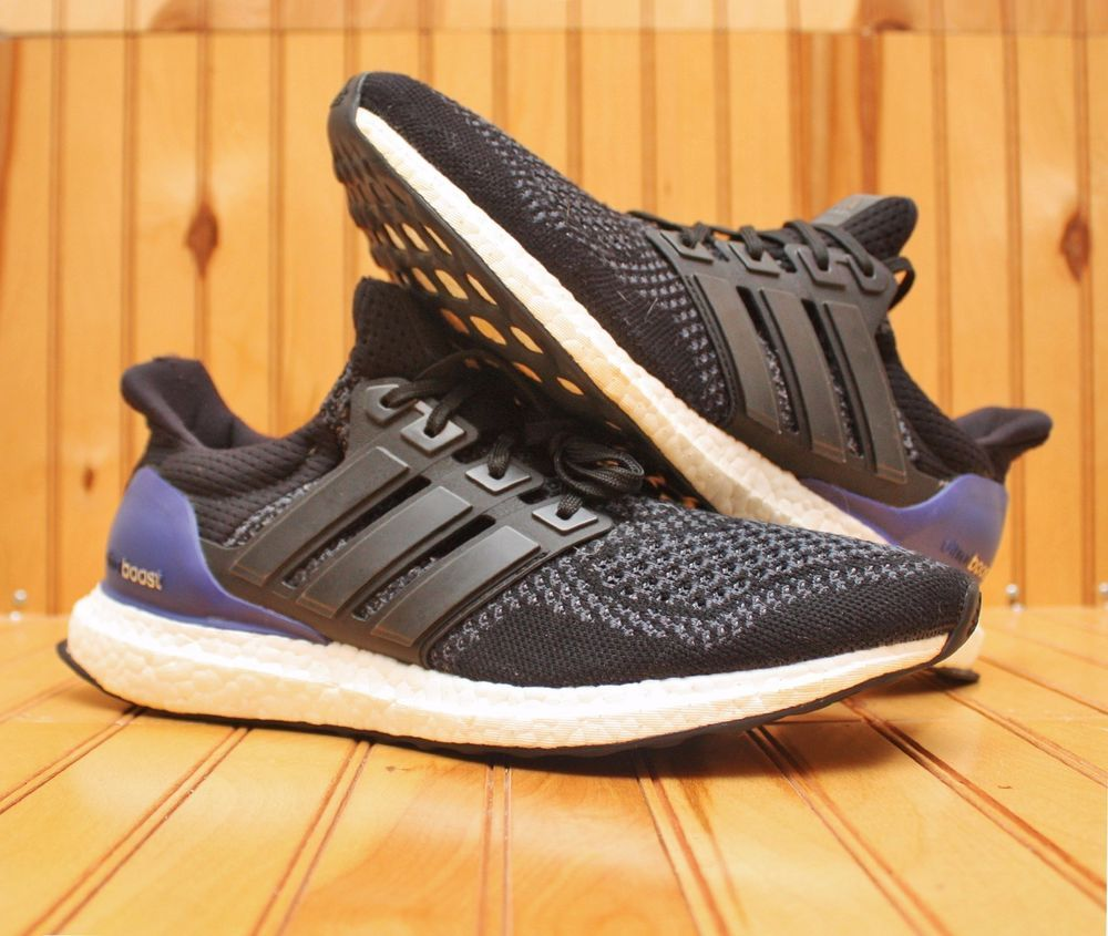 d08741b5637c9a Original Adidas Ultra Boost 1.0 Size 9.5 -Kanye West Yeezy Black Purple-  B27171  adidas  RunningCrossTraining