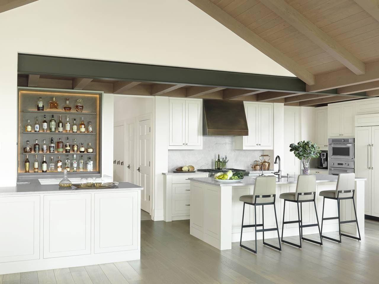 Modern White Kitchen & Bar - Stratford Hills Residence, Austin, TX ...
