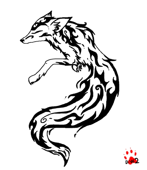 Fox Tattoo 1 By Demonwolf2 D3iyz56 Png 557 644 Fox Tattoo Tattoos Tribal Tattoos