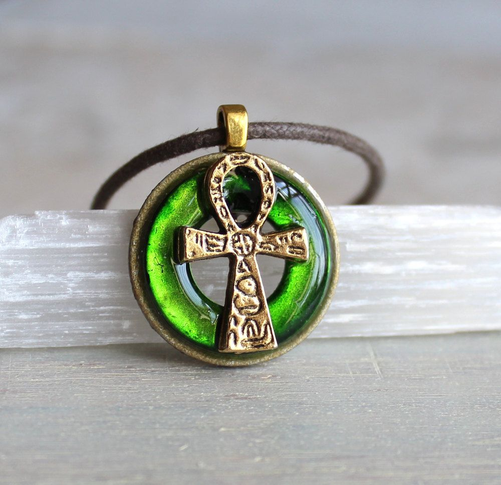 Green ankh necklace ankh jewelry mens jewelry egyptian necklace green ankh necklace ankh jewelry mens jewelry egyptian necklace mens necklace aloadofball Choice Image