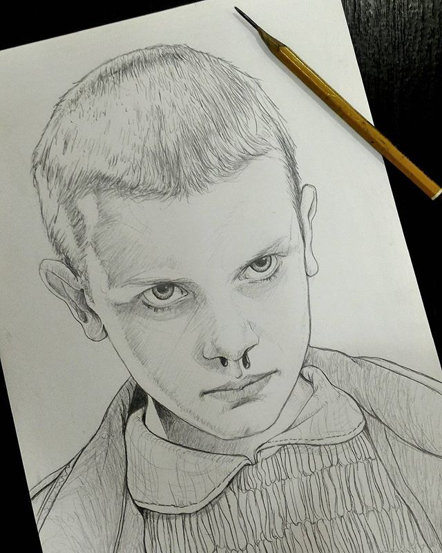 Stranger Things Eleven 11 Elevenstrangerthings Millie Bobby Brown Strangethingsnetflix Netflixserie Stranger Things Art 11 Stranger Things Stranger Things