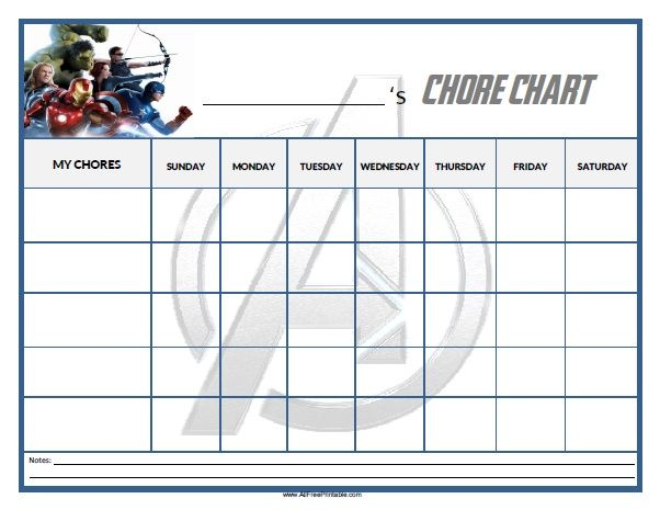 Free printable avengers chore chart home pinterest for Allowance chart template