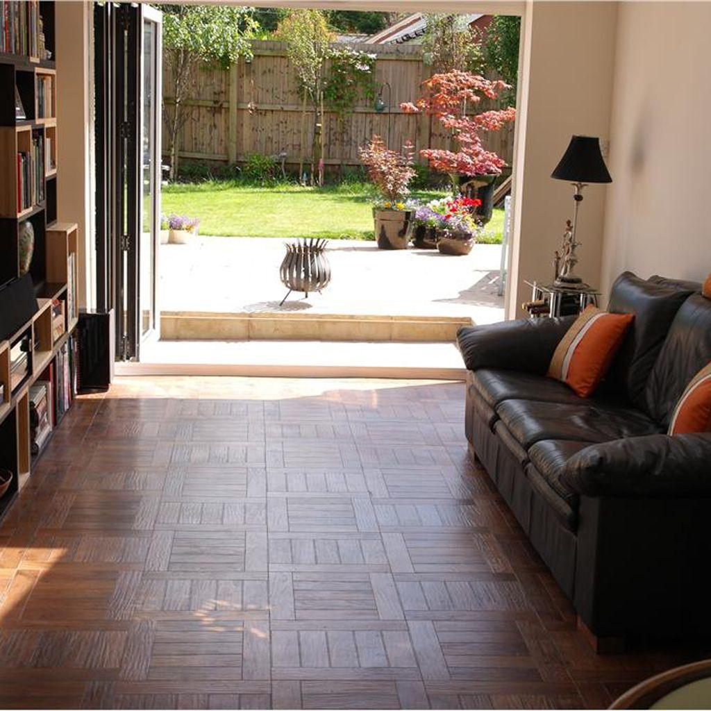 Karndean Russet Oak Parquet floor. Karndean allows you to