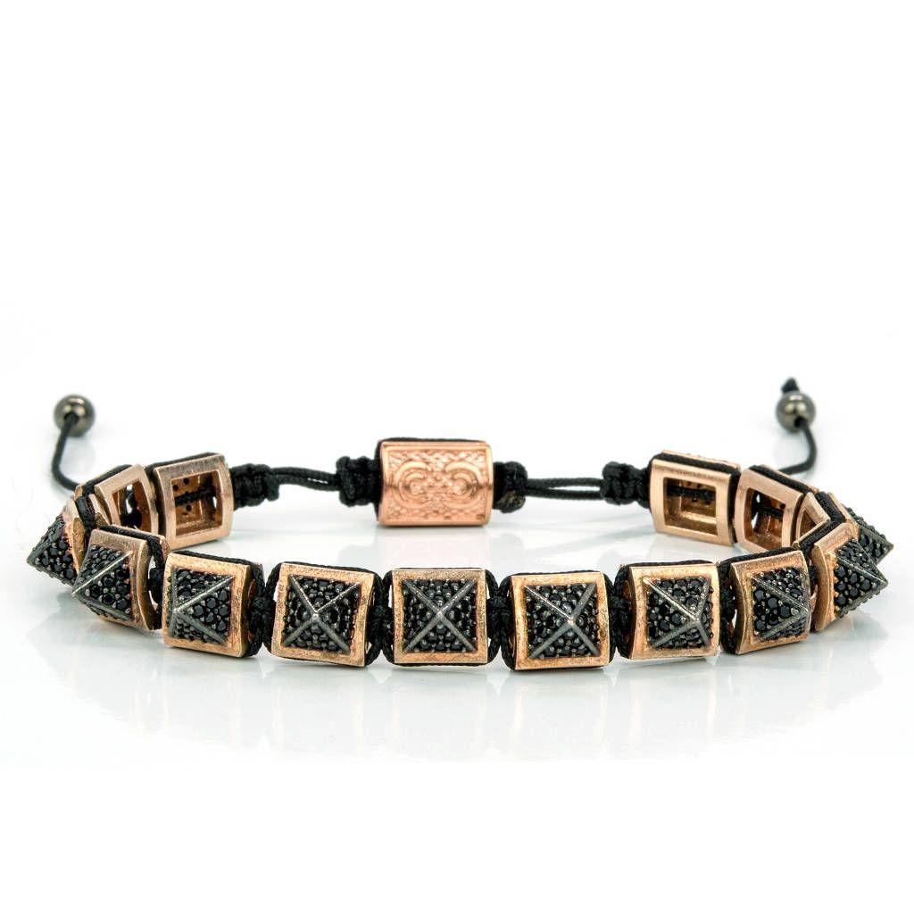 Bracelet homme or rose