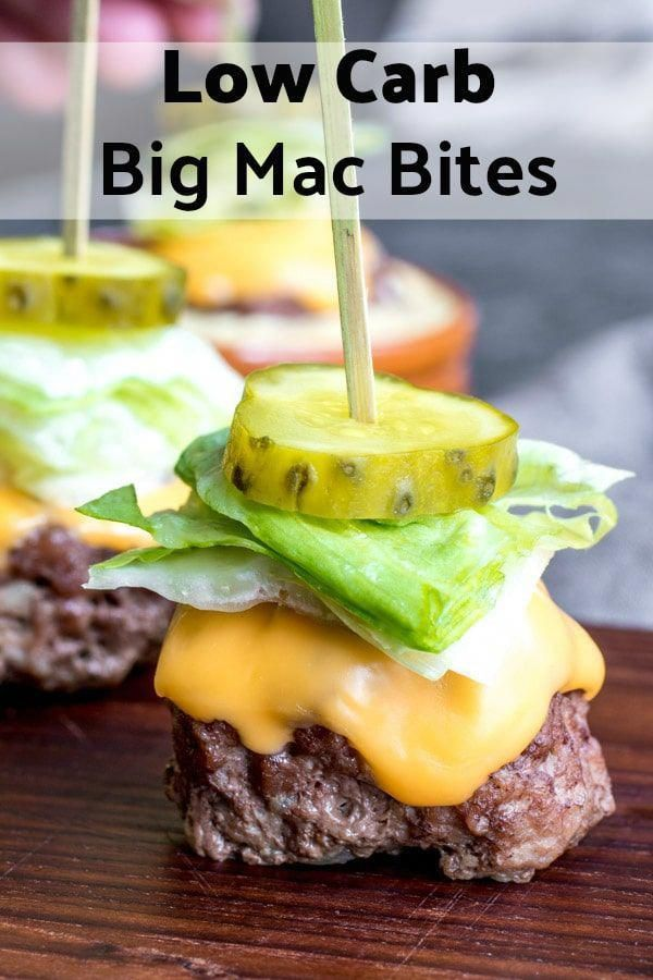 These Low Carb Big Mac Bites are a keto recipe for mini bunless burgers that make a great low carb appetizer or game day food idea These are one of those easy appetizer r...
