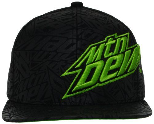e342122bb039a Mountain Dew Men s Adjustable Flat Brim Hat