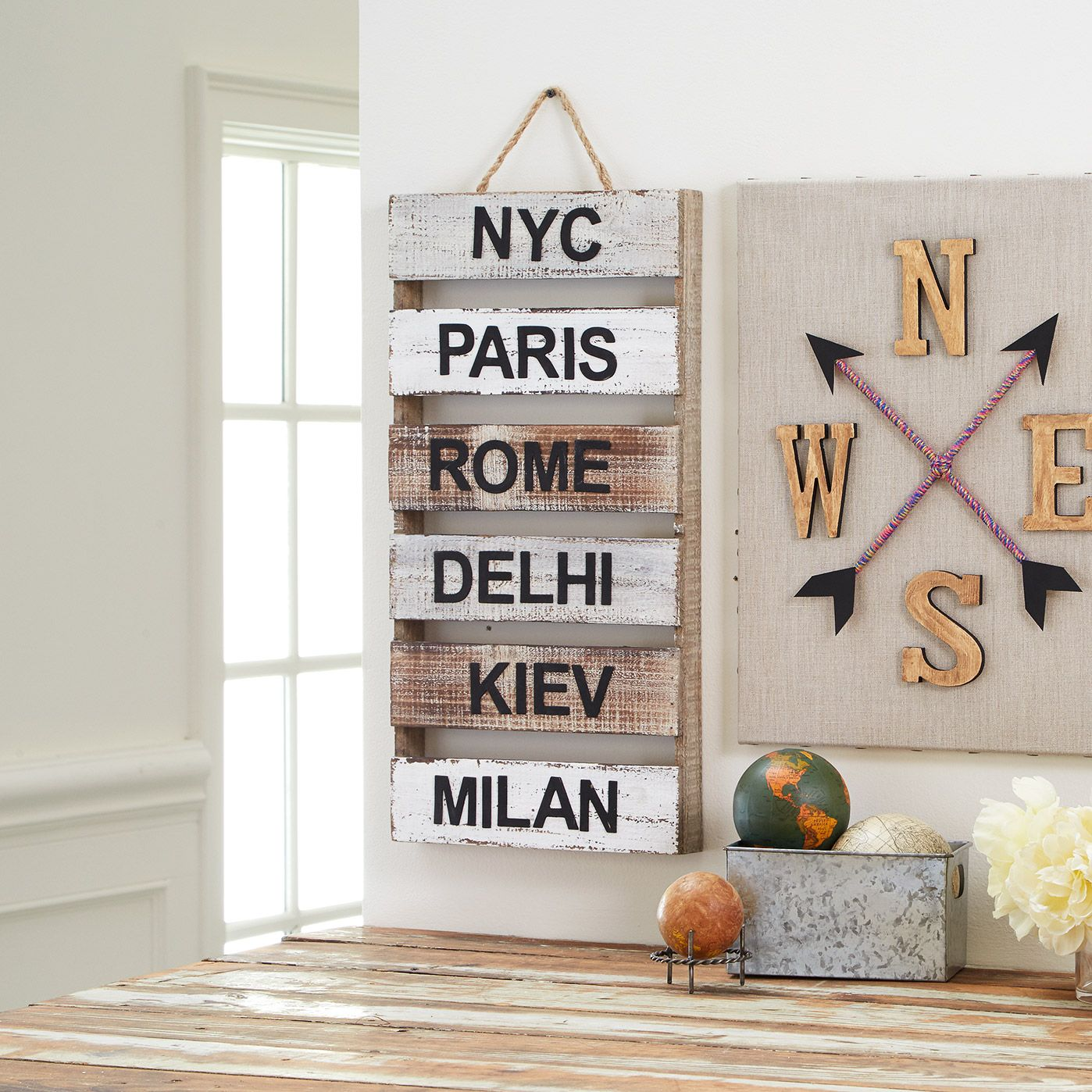World Travel Cities Wood Pallet | Travel wall decor ...