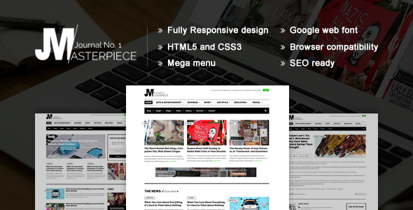 Masterpiece - HTML5 Magazine Template | Template, Website and ...
