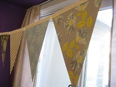 How to make bunting with pattern paper and bias tape