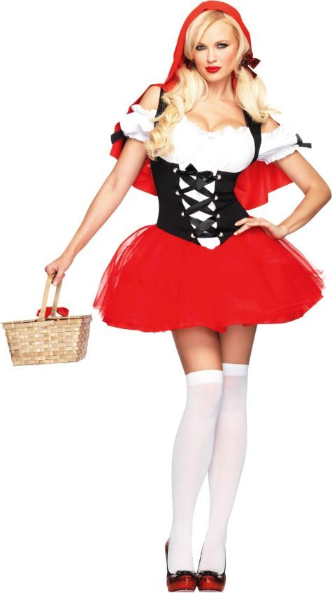 Adult Racy Red Riding Hood Costume - Storybook Costumes - Womens ...
