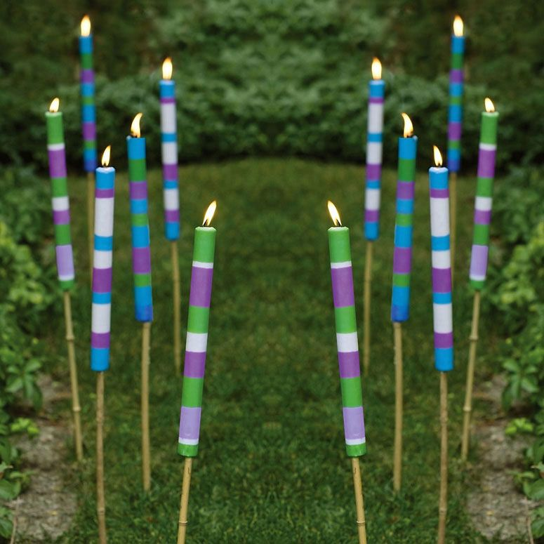 Regular Tiki Torches May Be Summer Lawn Staples For Illuminating Your Lawn  And Patio Into The Wee Evening Hours, But These Cool New Citronella Candle  Sticks ...