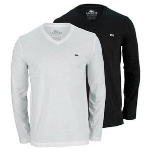 The Lacoste Longsleeve V-Neck Tee is a great choice for the season. This v-neck is wearable on and off the court for a polished and refined look. Pair this longsleeve up with your jeans or with your tennis pants or shorts and you are good to go! Features include pima cotton and signature Croc applique at chest. Pima cotton is a fine grade of cotton grown exclusively in America and Peru. It is known for its soft luxurious feel.Fabric Content: 100% Pima CottonFor information regarding sizes…