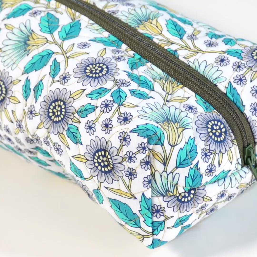 Quilted Zipper Pouch Blog Pattern – Midnight Quilt Show | Bluprint