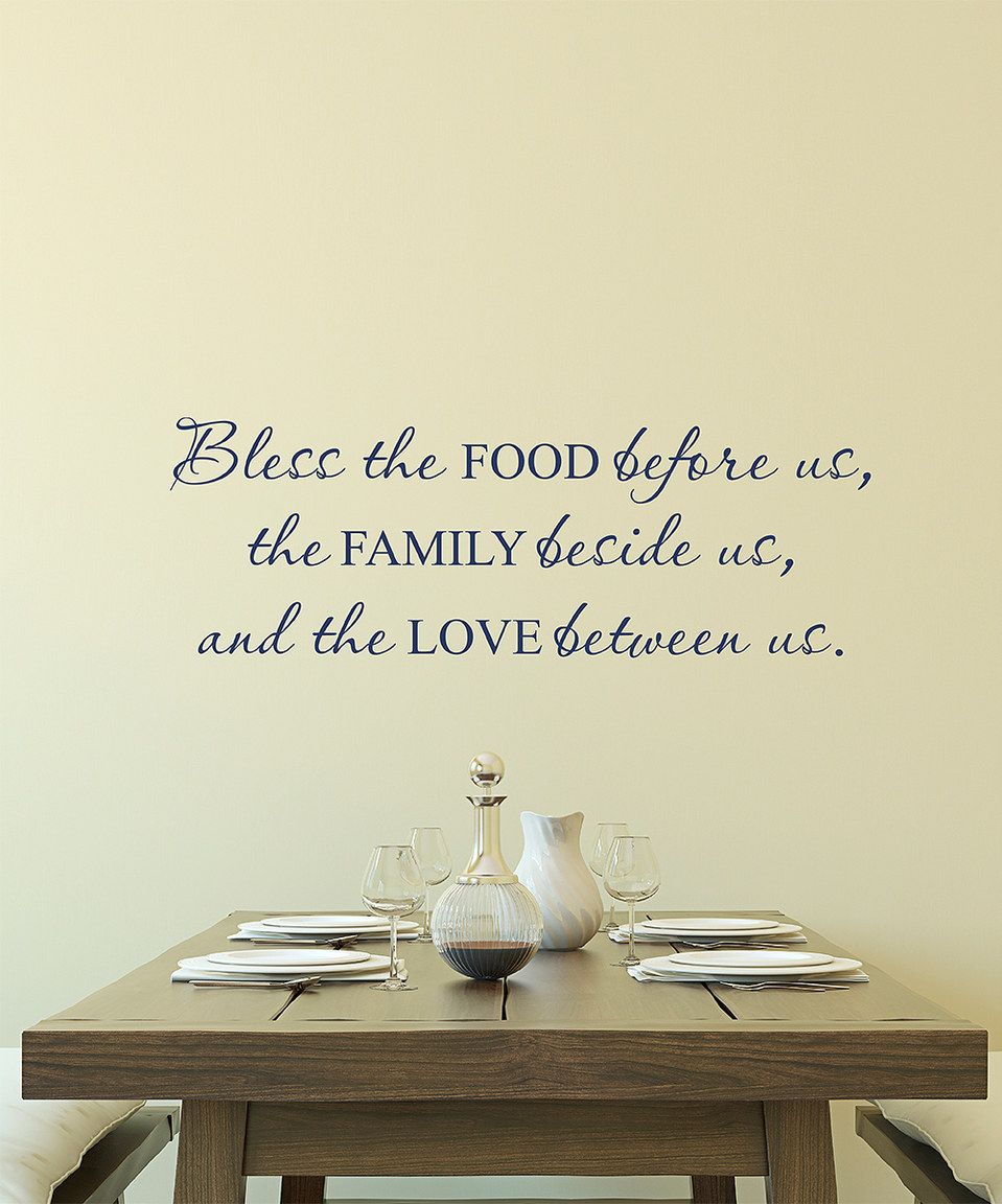 Love Wall Quotes Look At This Zulilyfind 'bless Food Family Love' Wall Quotes