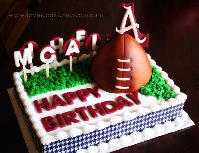 Alabama Cake I made! All edible, even the football. www.facebook.com/britneyharper7
