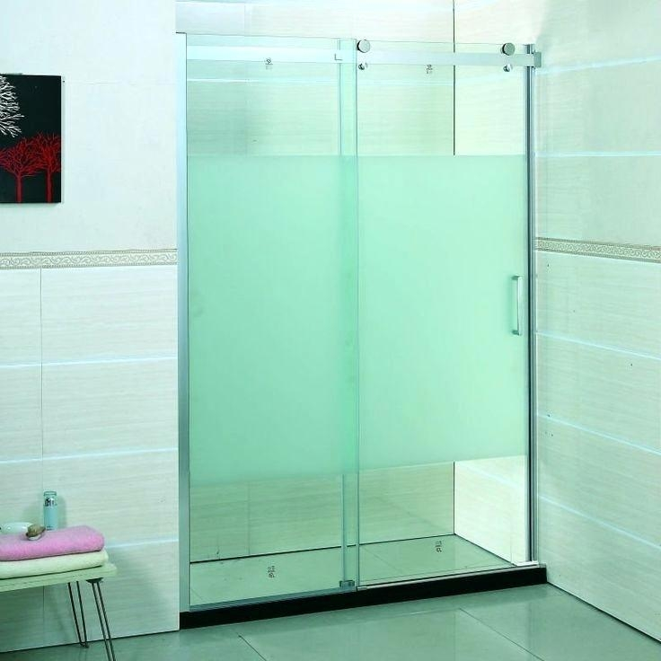 Frosted Glass Shower Doors Bathroom Doors With Frosted Glass