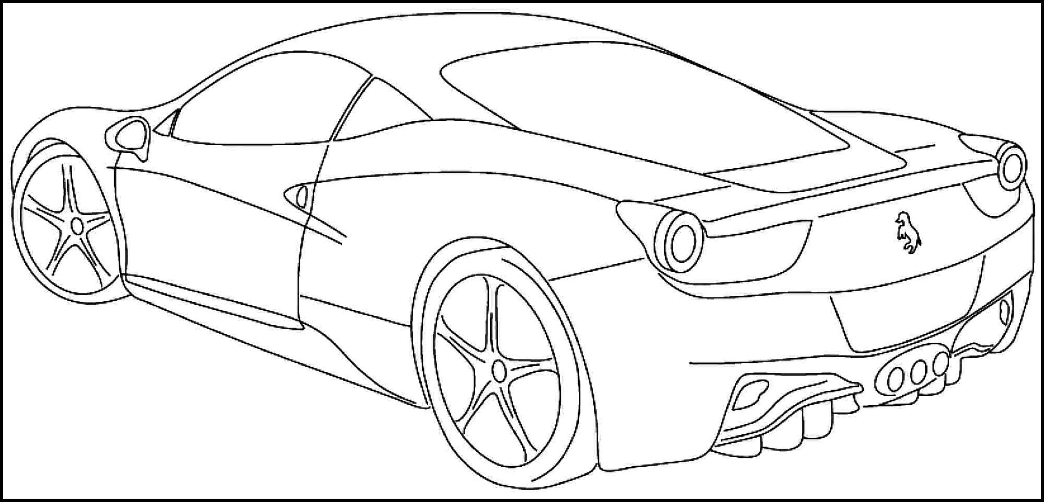 Printable sports car coloring pages for kids & teens Download or