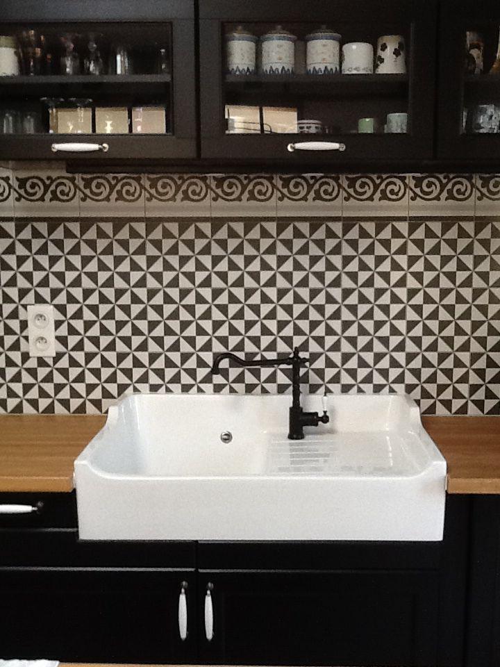 evier encastr cuisine ikea fa ence sur mesure home pinterest sinks plan de travail. Black Bedroom Furniture Sets. Home Design Ideas