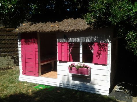 Great Cabane Pour Enfant En Palettes 6m²