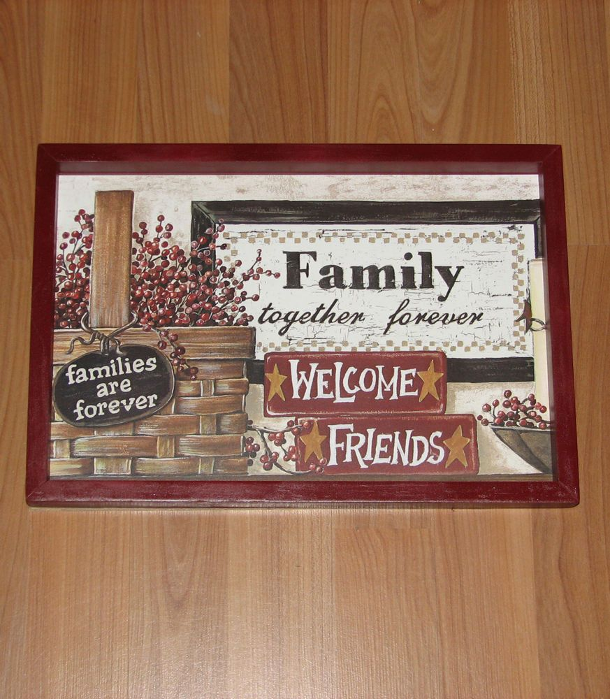 Primitive Country Families Together Forever Wall Decor 9 Inches By 13 Inches