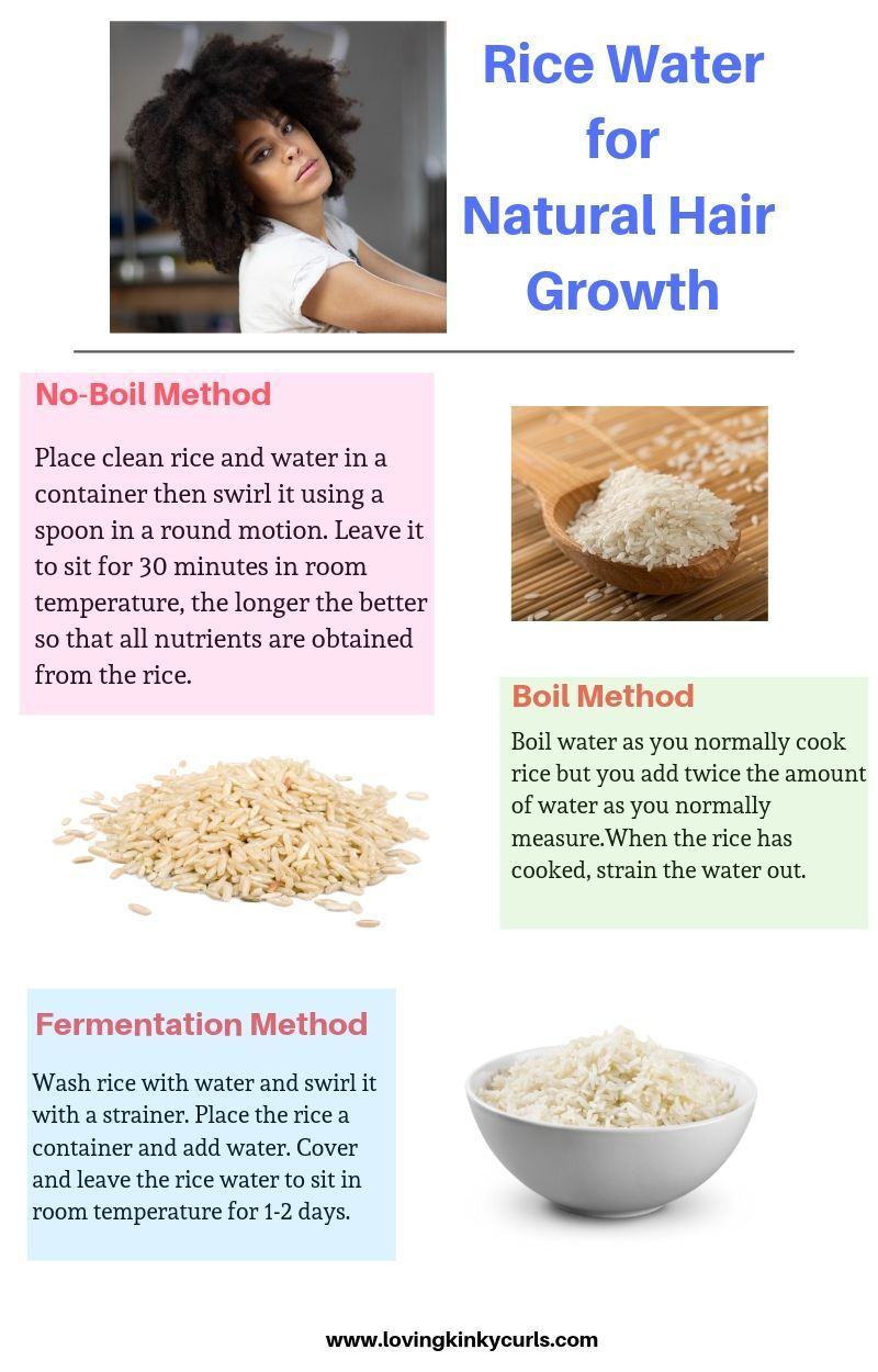 Rice Water for Natural Hair Growth? Who would have thought! Rice water was traditionally used in Japan and China where the Yao women from the village of Huangluo in China were believed to use it to grow strong, thick, and shiny and the longest hair of about 6 feet as it is rich in vitamins, minerals, and amino acids . Here are three methods that you can use to prepare rice water for your hair. #naturalhaircare
