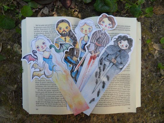 Game Of Thrones Bookmark Unique Bookmarks Watercolor By Lisycorner Creative Bookmarks Cool Bookmarks Unique Bookmark