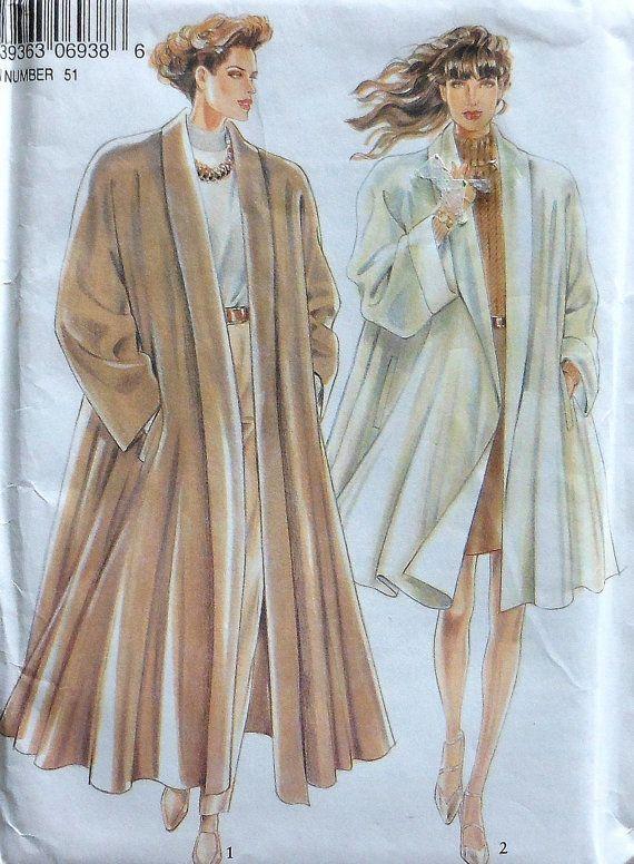 Swing Coat Sewing Pattern Uncut New Look 6938 Sizes 8 18 Swing Coat Sewing Pattern Swing Coat Pattern Coat Pattern Sewing