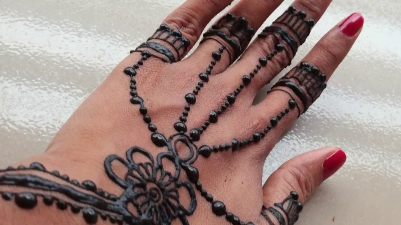 Mehndi For Eid : Ramazan eid special new jewellery style mehndi design