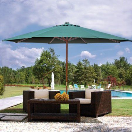 Superb 13 Foot Market Patio Umbrella Outdoor Furniture Green Mega Brands,http://www