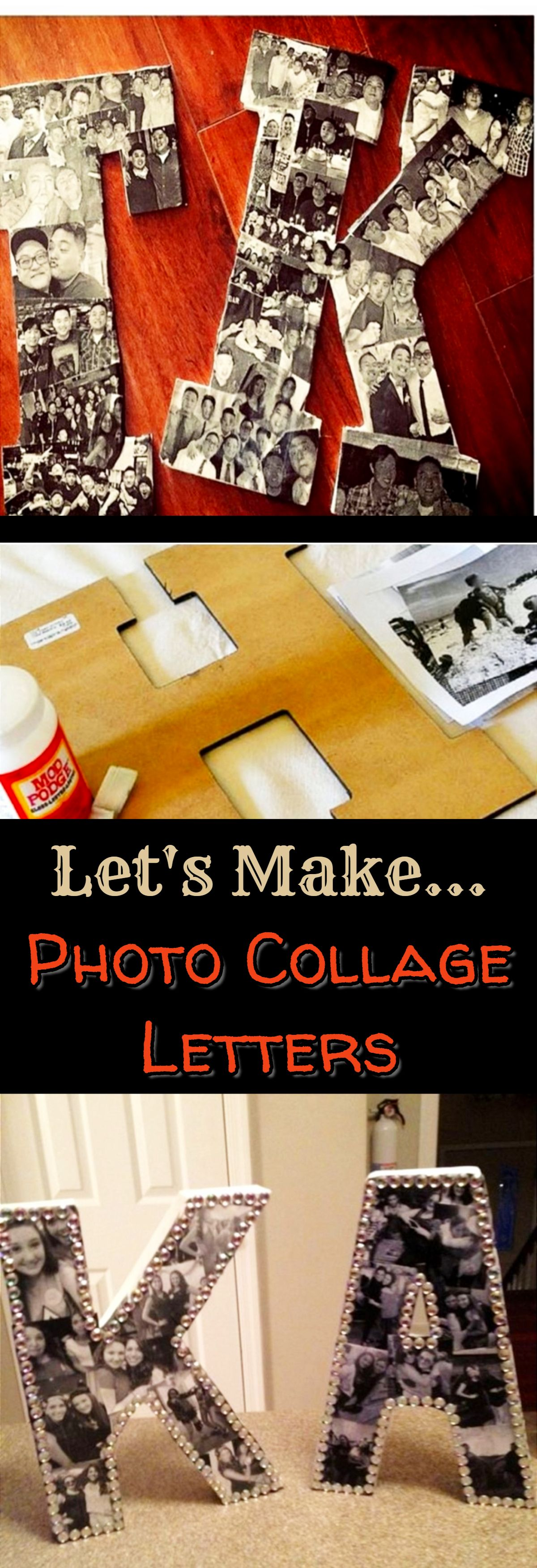 Diy picture collage letters ideas we tried it lets