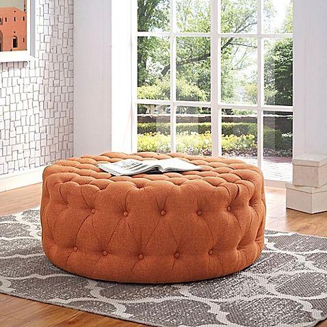 Miraculous Orange Ottoman From Bed Bath Beyond In 2019 Fabric Machost Co Dining Chair Design Ideas Machostcouk