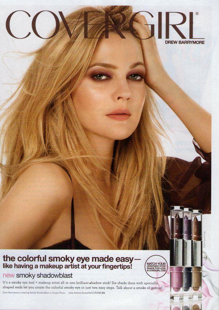 DREW BARRYMORE (CoverGirl) 2010 Magazine Print Ad