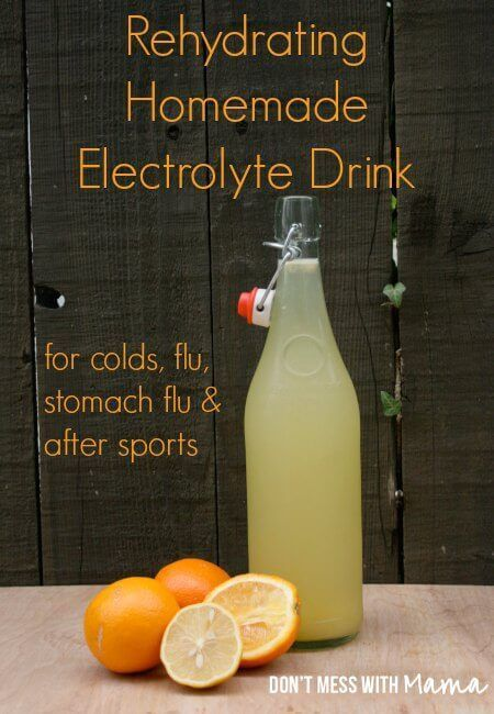 Homemade Electrolyte Drink - Natural Sports Drink #health #homemade #recipe - http://DontMesswithMama.com