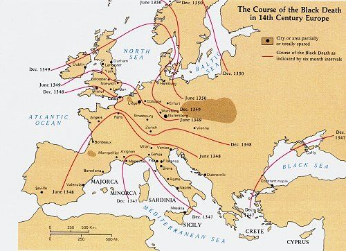 This website talks about the great famine and the black death map this website talks about the great famine and the black death map of the spread of the black death through europe gumiabroncs Gallery