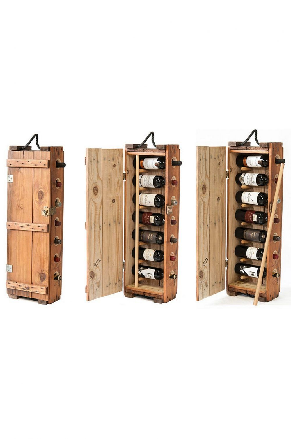 wine rack made from an authentic US Army ammunition box in