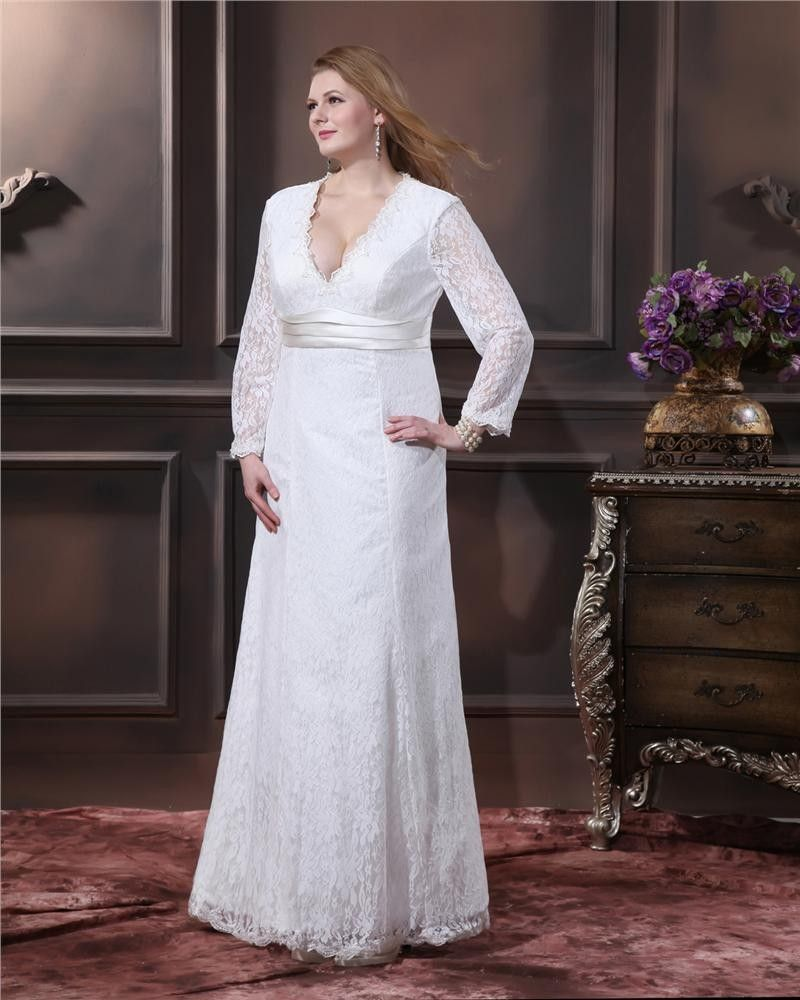 High quality long sleeve plus size wedding gown buy long sleeve