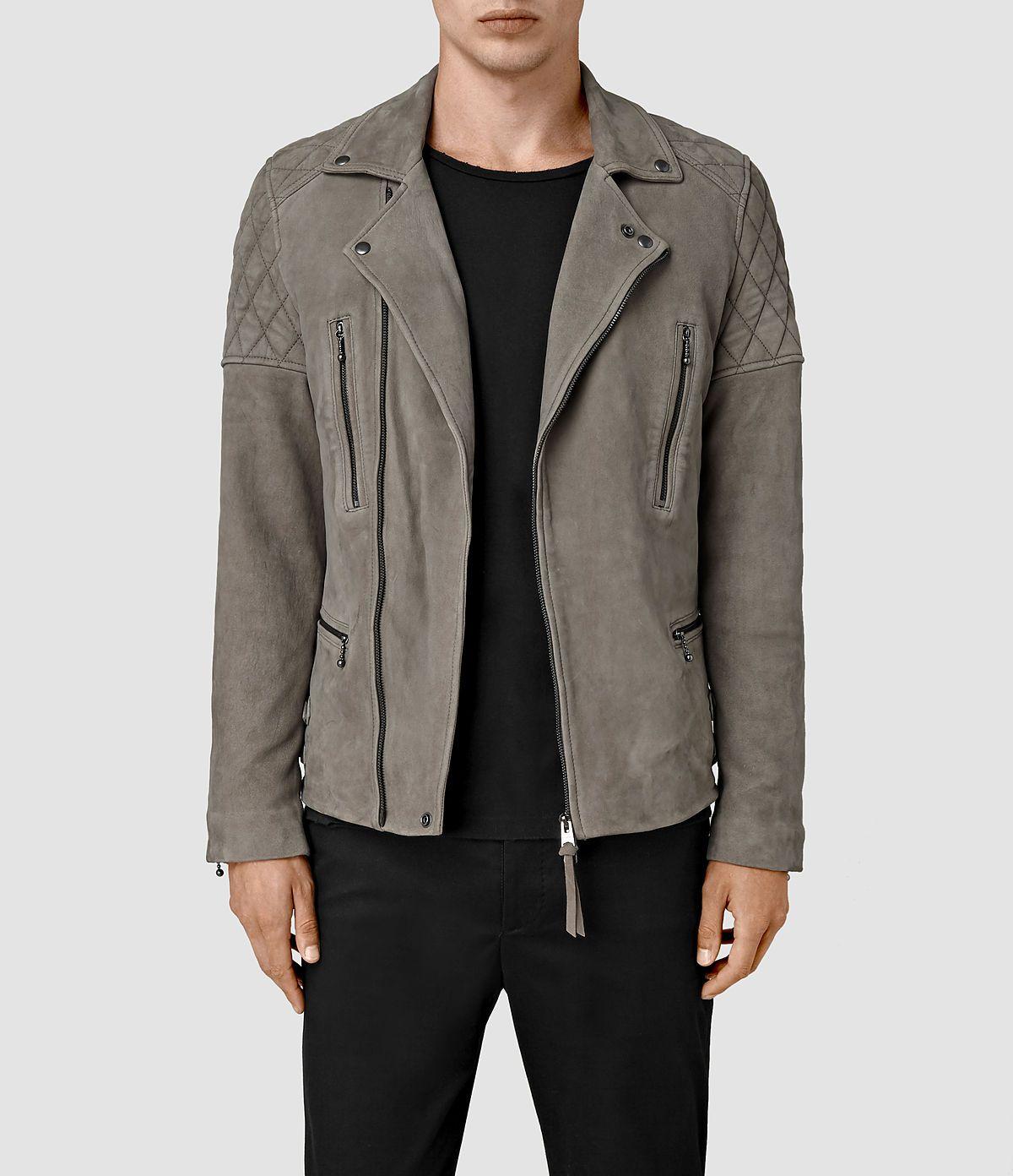 Allsaints New Arrivals Mens Kenji Suede Biker Jacket Leather Jacket Men Best Smart Casual Outfits Suede Biker Jacket [ 1392 x 1200 Pixel ]