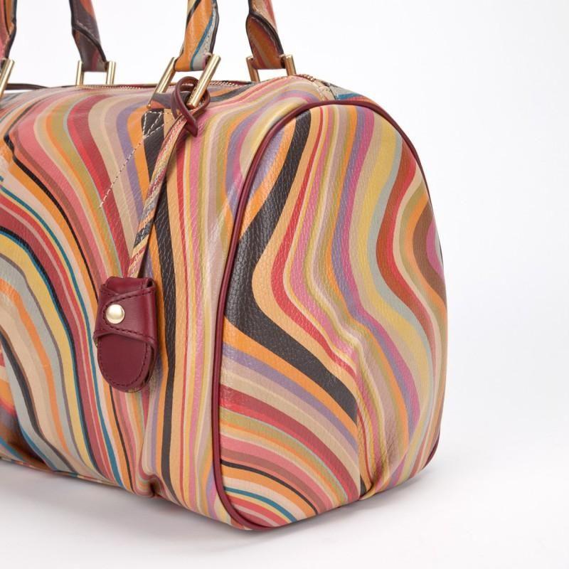 Paul Smith Handbags Swirl Print Aqua Bowling Bag