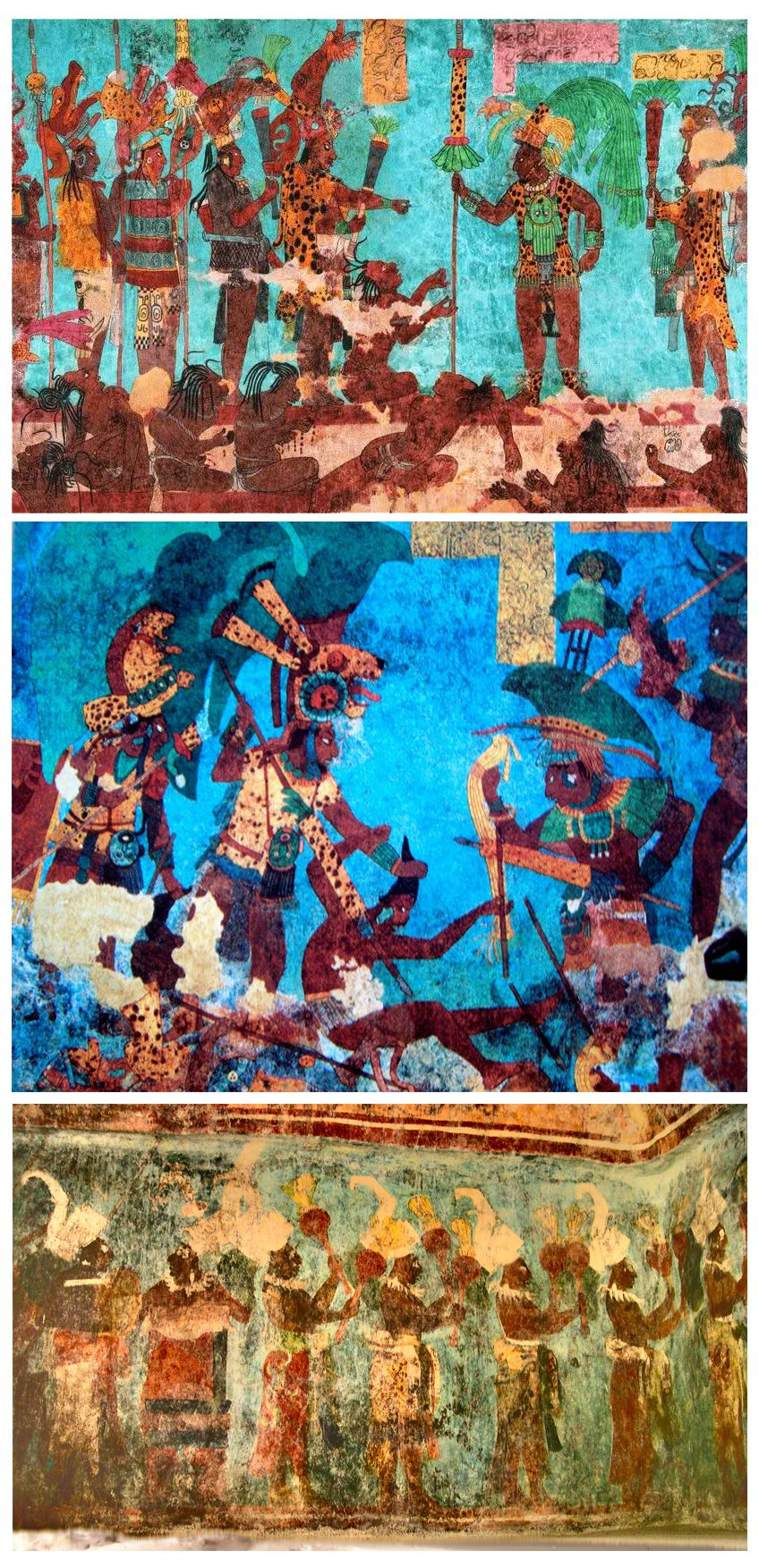 Anonimo Murales De Bonampak Fresco Sobre Estuco Siglo Viii D C