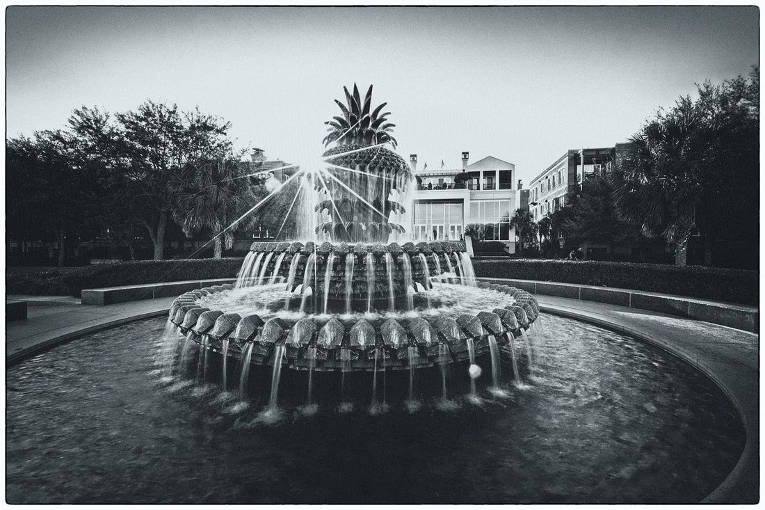 The pineapple fountain in waterfront park a great place to make a wish