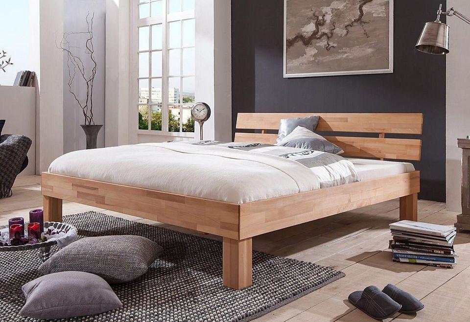 Holzbett Tagalog aus Wildbuche Massivholz Braun mit - farbe für schlafzimmer
