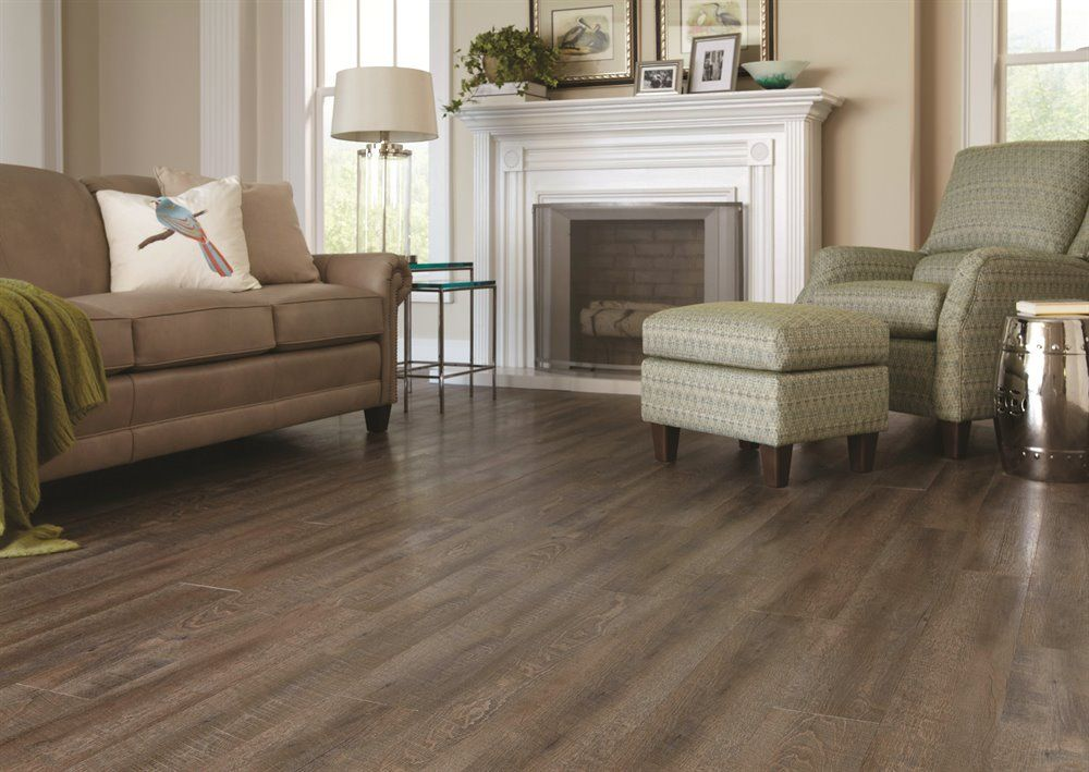 STAINMASTER Driftwood Oak 4mm Luxury Vinyl Plank Flooing
