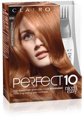 Clairol Nice N Easy Perfect10 8rb Medium Reddish Blonde Nice N