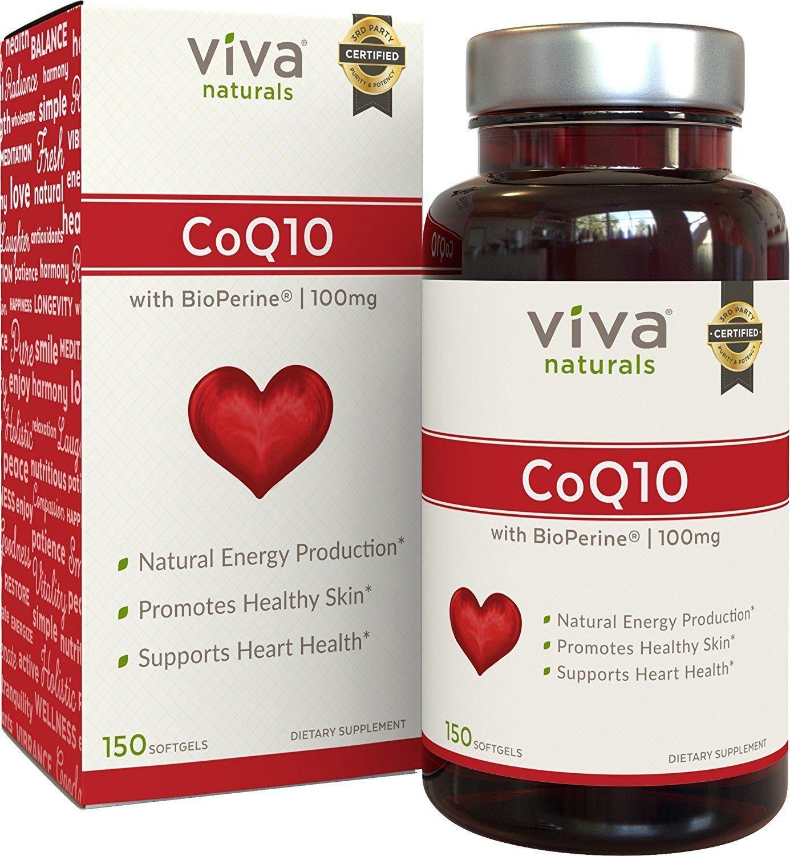 Viva Naturals Coq10 100mg 150 Softgels