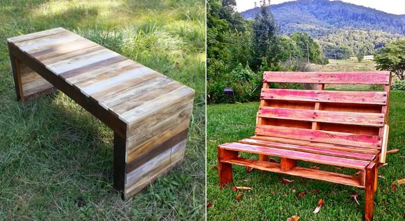 Faire Un Banc En Palette De Bois Et Le Decorer Soi Meme Les Top Idees Diy En Photos Banc En Palette Palette Diy Idee Deco Jardin